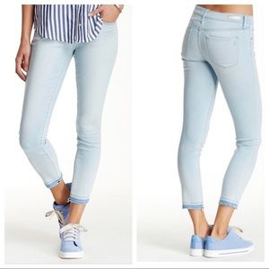 Articles of Society Carly Skinny Crop Blue Jeans
